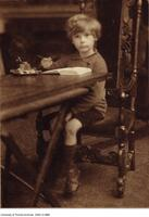 A young Donald Coxeter at desk