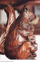Carved red squirrel - part of balcony detail in Coates' home.