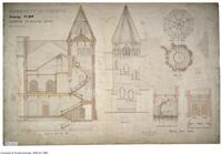 University of Toronto [University College] - Drawing No.24 Staircase to Reading Rooms