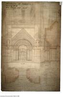 University of Toronto [University College] - Drawing No.32 Main Entrance Door - South