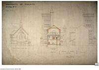 University of Toronto [University College] - Drawing No. 7 Elevations of Projections - South Wing