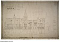 University of Toronto [University College] - Drawing No.18 East Wing - Quad Front