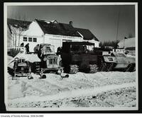 Snowmachines at Hudson Bay Co. Post