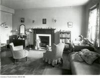 Interior view of a double bedroom, Whitney Hall, Women's Residence