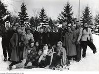 "Nursing students at winter camp ""Tally-Ho"", Feb 4-6 1949"