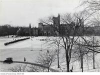 Football Practice on campus - first snow 1924