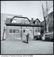 Marshall McLuhan leaving the coach house