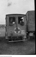 J.R. Cockburn seen in World War I ambulance