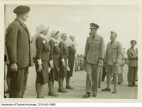 Visit of the Duke of Kent - inspecting members of the School of Nursing staff and graduates who served in WWII