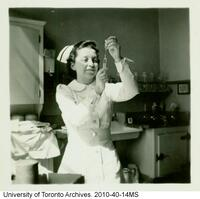 Nurse, Margaret Allemang at the Toronto General Hospital