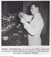 Intense Concentration - medical student during a lab experiment