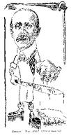 Caricature drawing of Dr. Primrose