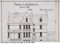 Residence for William Christie - South Side Elevation
