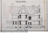 Residence for William Christie - North Side Elevation