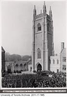 Soldiers Tower - previous to 2 min. silence, Nov. 11, 1924