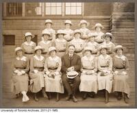 Haultain with Senior Ward Aides (the Girls in Green) of the Military Hospitals of Ontario, June 1919