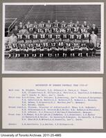 University of Toronto Football Team, 1966-67