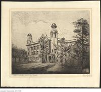 Etching of the Old Medical Building by Owen Staples