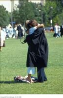 Convocation, 1987 - hug on front lawn