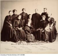 Officers of Women's Literary Society of University College, 1894-1895