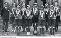 University of Toronto Senior Women's Basketball Team, Intercollegiate Champions, 1925