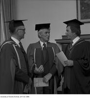 Bora Laskin (centre) on the occasion of receiving and Honorary Degree from the Ontario Institute for Studies in Education , June 13 1975