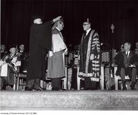 Bora Laskin receiving an Honorary Degree L.L.D. June 6, 1968
