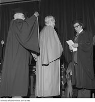 Bora Laskin receiving an Honorary Degree from the Ontario Institute for Studies in Education, June 13 1975