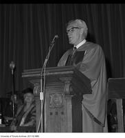 Bora Laskin addressing graduates after receiving an Honorary Degree from the Ontario Institute for Studies in Education, June 13 1975