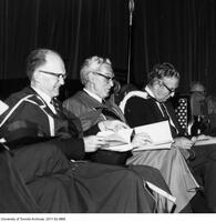 Bora Laskin (center) at convocation having received an Honorary Degree from the Ontario Institute for Studies in Education, June 13 1975