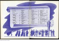 Illustrated Table of Contents from the yearbook, Torontonensis 1942.