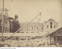 South front, University College under construction