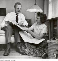 Professor Northrop Frye with wife Helen Kemp Frye