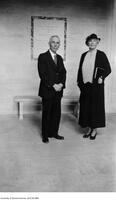 Dr. Chant and Jessie Dunlap, benefactor of the David Dunlap Observatory, seen here in the rotunda of the main administrative building, October 26, 1934
