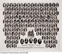 Graduating Class of 1923, Ontario College of Pharmacy