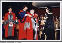 Dr. Ernest McCulloch receiving an Honorary Degree from the University of Toronto, June 9 2004