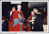 Dr. James Till receiving an Honorary Degree from the University of Toronto June 9 2004