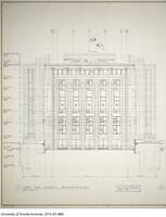 School of Library Science - Drawing 1500-B/1011 - North East Elevation