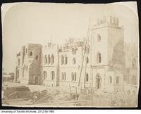 Construction of the east wing of University College, ca 1858.