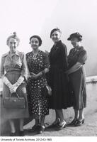 Florence Emory of the School of Nursing (far right) with nursing colleagues.