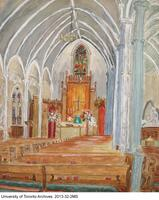 Watercolour of Trinity College Chapel