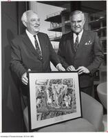 O.D. Vaughan, Chairman of the Board of Governors, with John P. Robarts