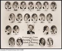 Graduating Class, B.Sc.N. University of Toronto School of Nursing. 1955