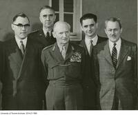 NATO group including Dr Omond Solandt far left, chairman of the Defence Research Board.