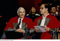 Russian mathematician, Vladimir with Miles Reed at the ceremony to receive a Doctor Honoris Causa Degree from the University of Toronto, June 1997