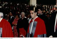 Russian mathematician, Vladimir Arnold in procession at the ceremony to receive a Doctor Honoris Causa Degree from the University of Toronto, June 1997