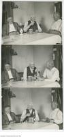 Series of photographs showing Prof H.E. Haultain with Professor George Reginald Mickle & Professor Charles Gunning Williams