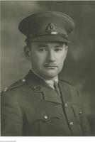 Portrait of Charles P. Stacey in Royal Canadian Signals' uniform.