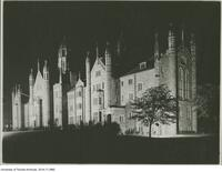 Trinity College, illuminated