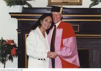 Joseph L. Rotman, honorary degree recipient seen here with his wife